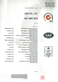 ISO14001 Certificate Page 2 of 2