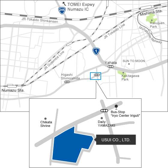 Head Office access map